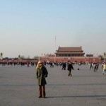 Gayle in Tiananmen Square